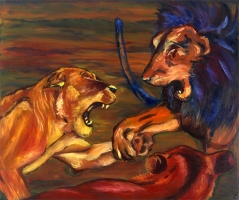 fighting-lions